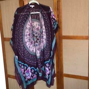 WOVEN HEART CARDIGAN ONE SIZE